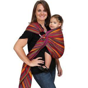 Maya Wrap Striped Cotton Ring Sling Baby Carrier